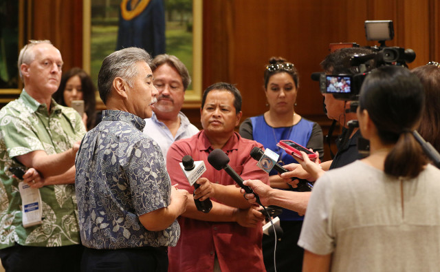 Governor David Ige presser. 18 july 2016