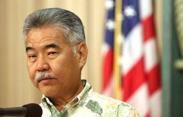 Governor David Ige veto presser. 12 july 2016