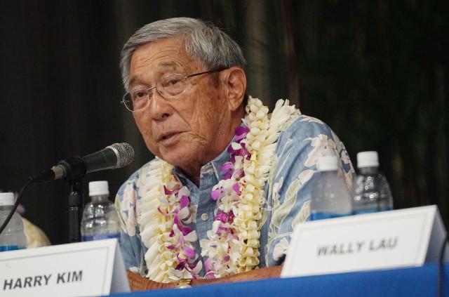 Hawaii Island Mayor debate Harry Kim. 14 july 2016
