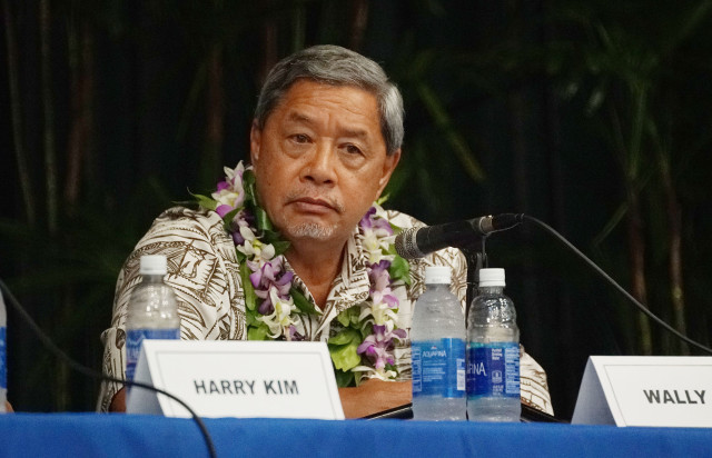 Hawaii Island Mayor debate Wally Lau. 14 july 2016