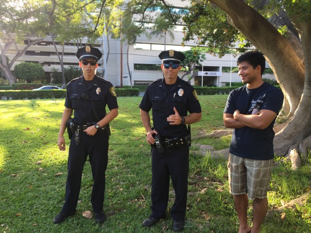 Honolulu Police Department officers were on hand at Saturday's event, something that upset a few participants at the kukakuka.