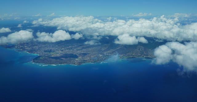 Oahu Diamond Head clouds. 14 july 2016