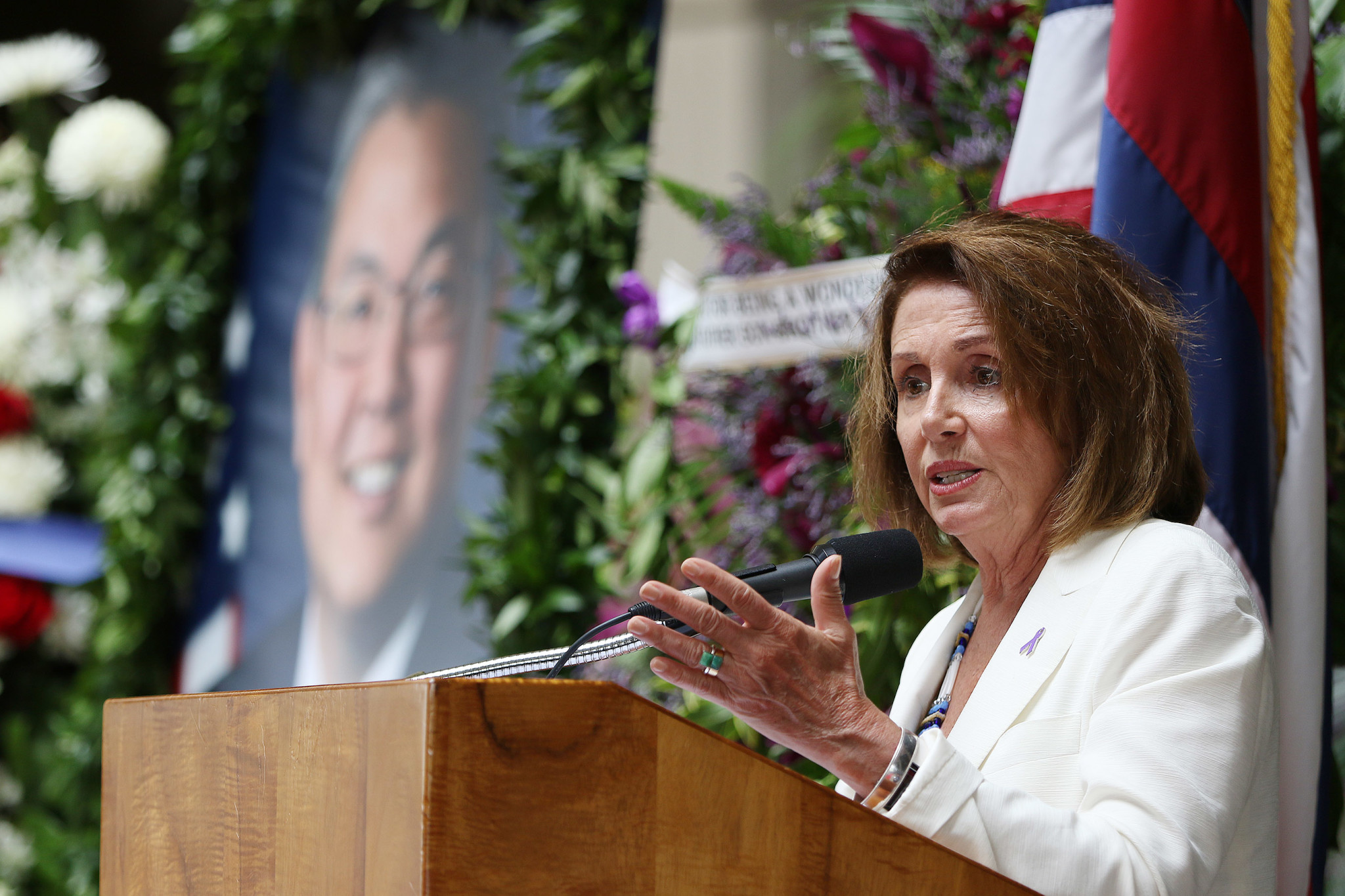 <p>U.S. House Minority Leader Nancy Pelosi spoke warmly of Takai. &#8220;It was only 18 months since he was sworn in, but he accomplished so much.&#8221;</p>
