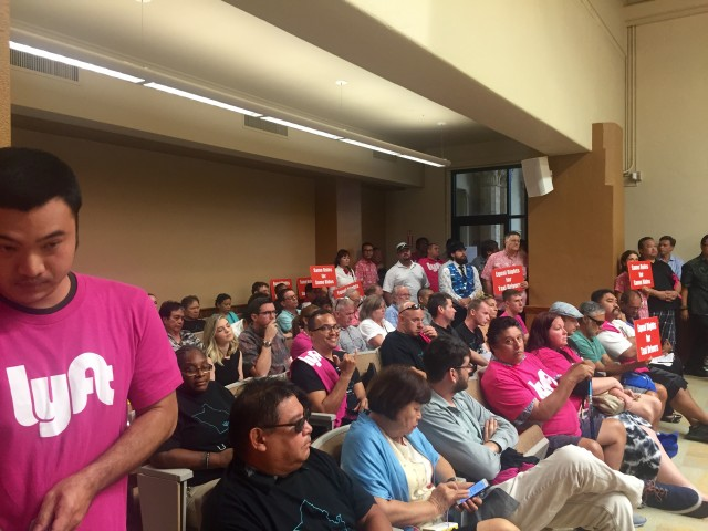 Wednesday's city council hearing was standing room only.
