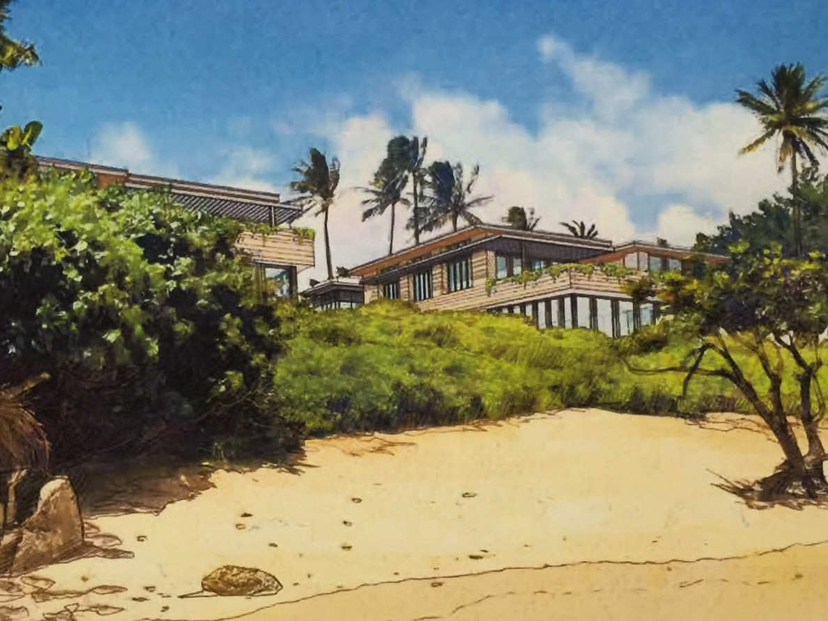 Alexander & Baldwin proposes to build six luxury condominium homes on a single oceanfront lot on Kahala Avenue.