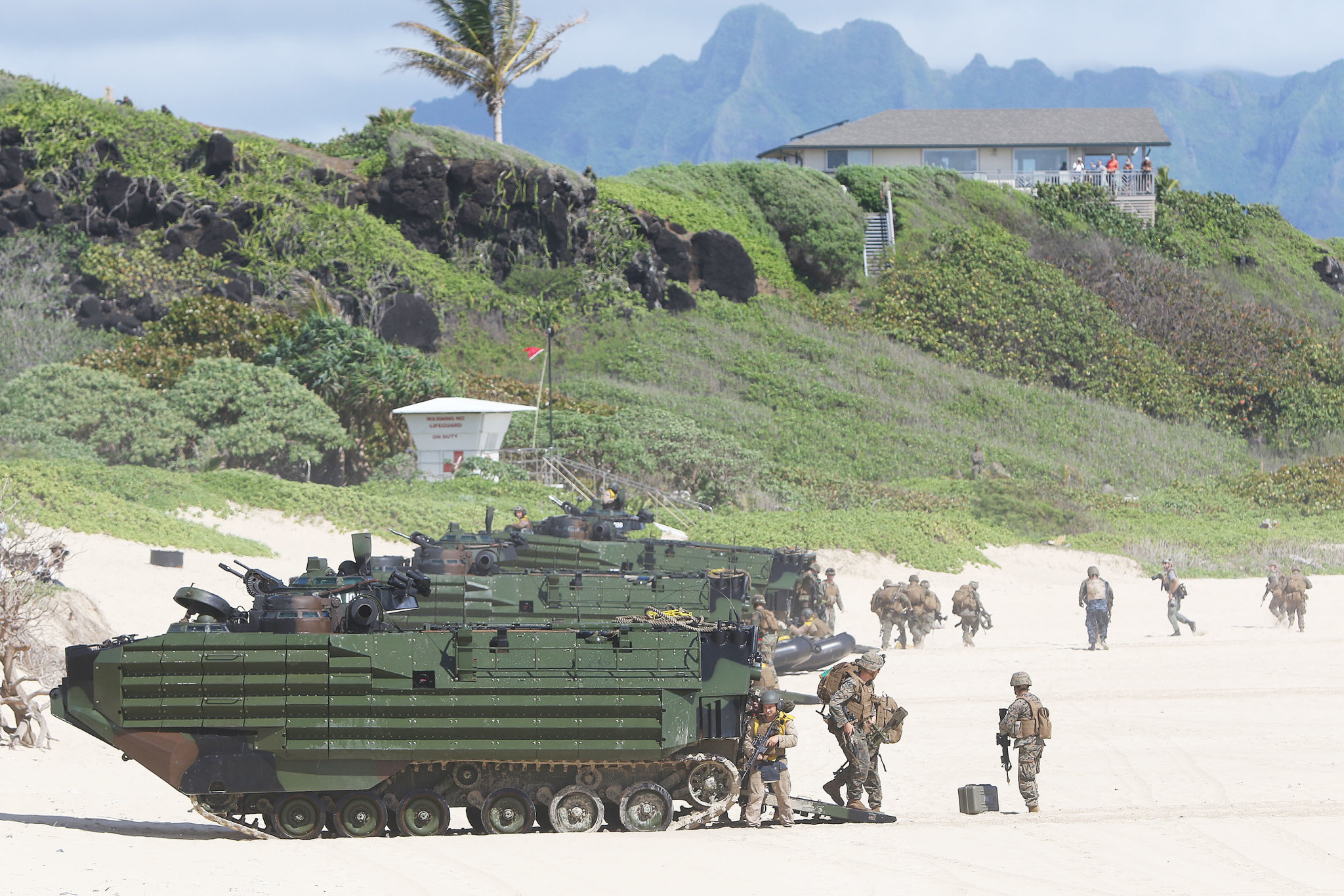 <p>The Provisional Marine Expeditionary Brigade-Hawaii was made up primarily of III Marine Expeditionary Force units based in Hawaii.</p>