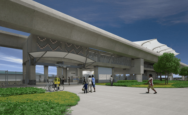 Public-private partnerships around Honolulu rail stops like those depicted in this rendering could hold numerous benefits for Oahu.
