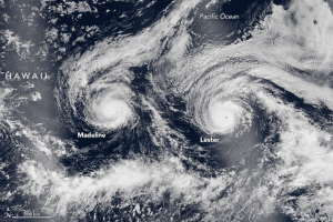 Hurricanes Madeline And Lester Swirling Toward Hawaii