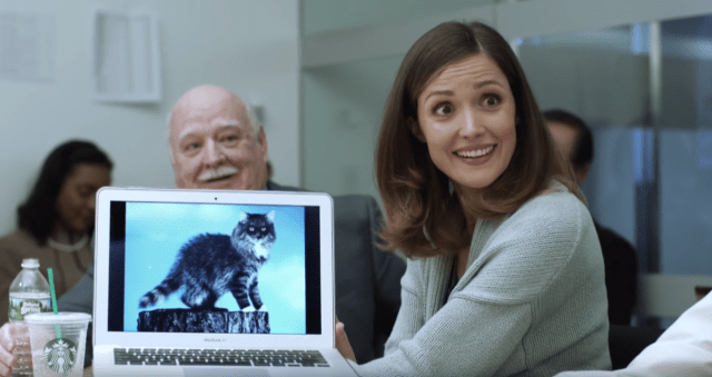 A segment in John Oliver's HBO show featured a fake trailer for a movie called Stoplight, in which click-friendly stories about a cat that looks like a raccoon is favored over an expose on local corruption.