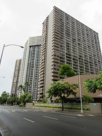 Kukui Plaza features two towers with 908 residential units.