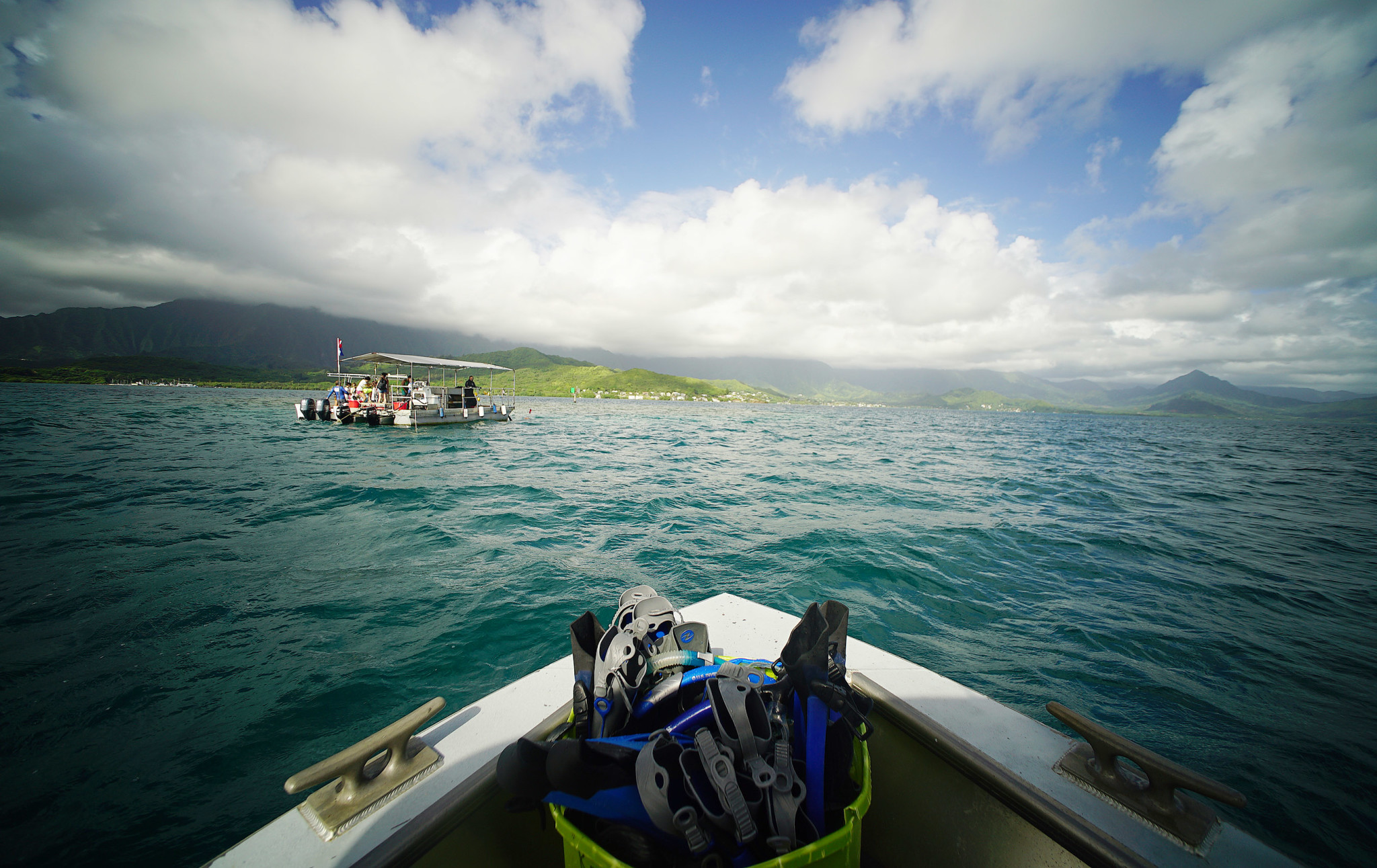 <p>The &#8220;Super Sucker Barge&#8221; uses two large hoses to operate like a giant vacuum that slurps up invasive algae and seaweed from the coral. The algae is then turned into compost that can be used on local farms located in Windward Oahu. Officials don&#8217;t want to transport the algae to farms over the mountains for fear that it might spread to other parts of the island.</p>