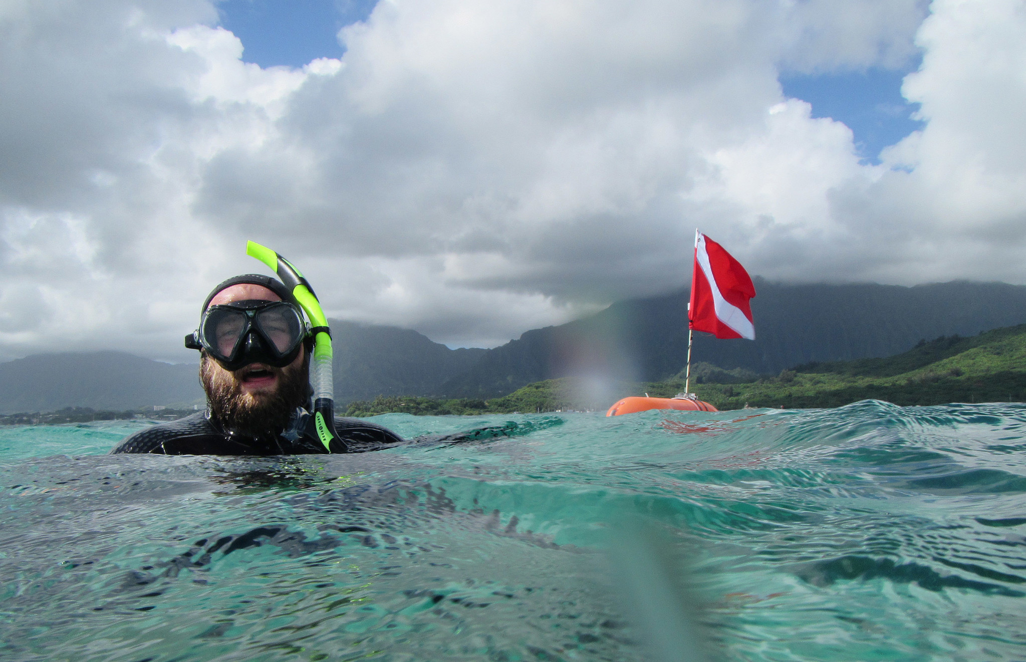 <p>DLNR fishery technician Daniel Lager provided an underwater tour of Kaneohe Bay&#8217;s coral, which has rebounded despite all the environmental stresses it has suffered from pollution, invasive species and climate change. In fact, scientists now believe the stress has made Kaneohe Bay&#8217;s coral more resilient to future bleaching.</p>