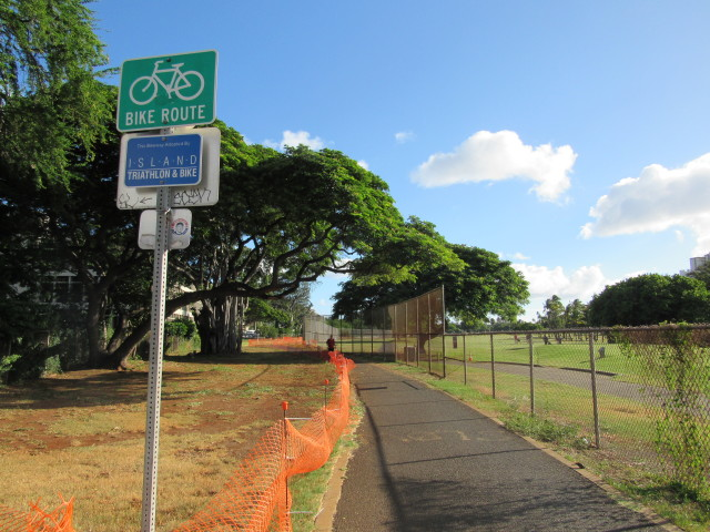 Island Triathlon and Bike adopted the bike path about five years ago.