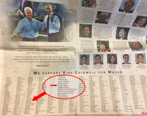 Caldwell Campaign: We May Have Been Duped With Newspaper Ad