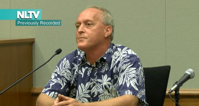 Star-Advertiser reporter Kevin Dayton was called to testify at the criminal trial of Hawaii County Mayor Billy Kenoi. He worked as Kenoi's spokesman for a number of years and county credit card charges related to Dayton are being questioned in the trial.