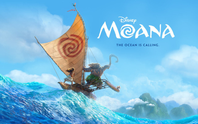 """Promotional image for the Disney feature, """"Moana,"""" scheduled for release in late November."""