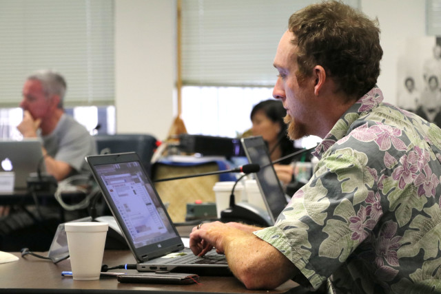 Western Pacific Regional Fishery Management Council's Scientific and Statistical Committee member Justin Hospital of the NMFS PIFSC Economics Program, Oct. 6, 2016, in Honolulu.
