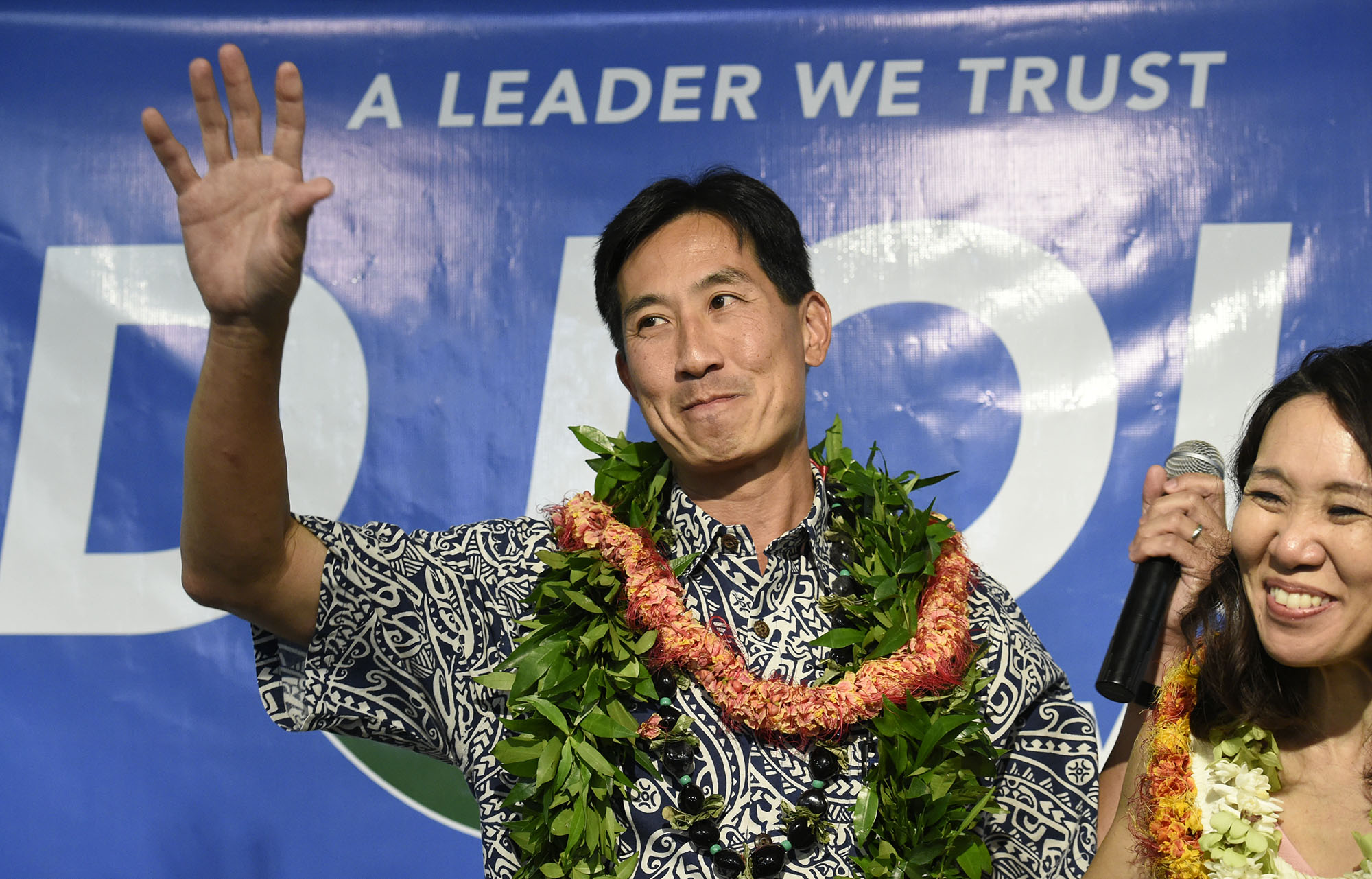 <p>When it became obvious he wasn&#8217;t going to win, Charles Djou addressed his supporters. — Ronen Zilberman/Civil Beat</p>