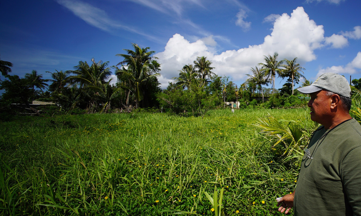 Ignacio Cabrera CNMI hazmat retired worker tours Tanapag. Saipan PCB contaminants Marianas. 24 aug 2016