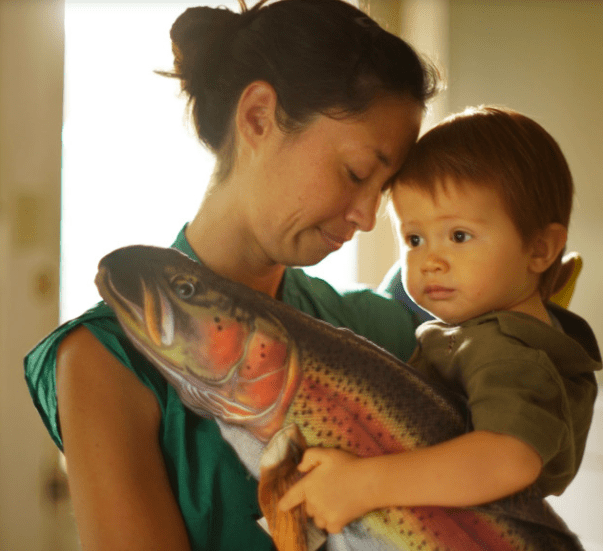 Cynthia King with her 19-month-old son, Dexter Muir, at their residence. Another son, Wiley Muir, died of undetermined causes at a Honolulu day care in 2014.