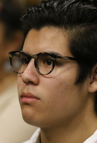 Christian Gutierrez in prelim hearing Judge Garibaldi's courtroom. Albatross. 27 dec 2016