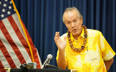 HPD Commission Chair Max Sword speaks to media about Chief Kealoha's ROPA and 30 day leave. 20 dec 2016
