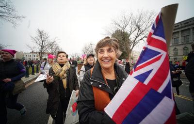 Donna Howard Hawaii marchers 2017 Womens March Washington DC. 21 jan 2017