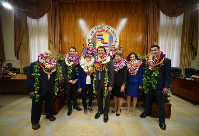 Honolulu City Council group shot. 3 jan 2017