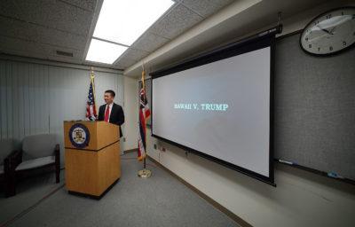 Trump Seeks To Put Hawaii Case On Hold