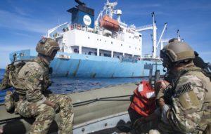 Coast Guard, Navy Board 16 Ships To Enforce Fishing Laws