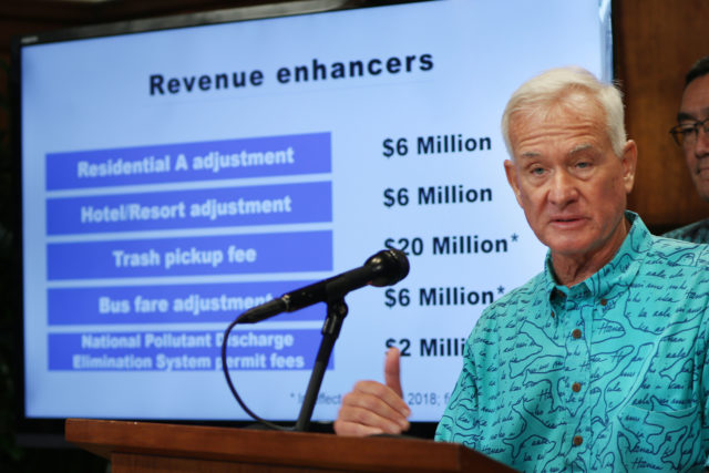 Mayor Kirk Caldwell Revenue Enhancers. 2 mar 2017