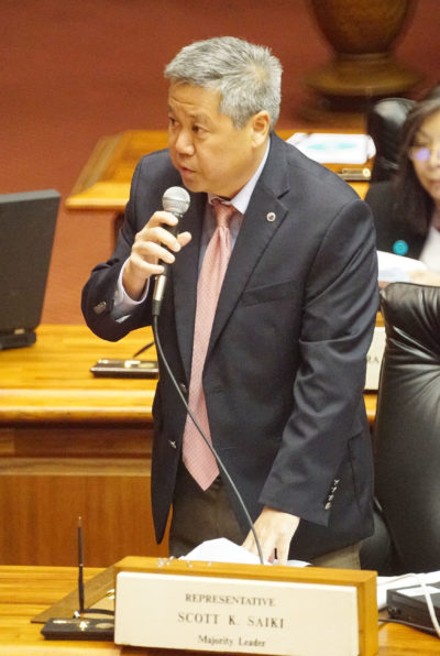 Representative Scott Saiki kills bill. 9 march 2017