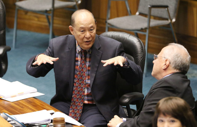 Senator Brian Taniguchi recess. 7 march 2017