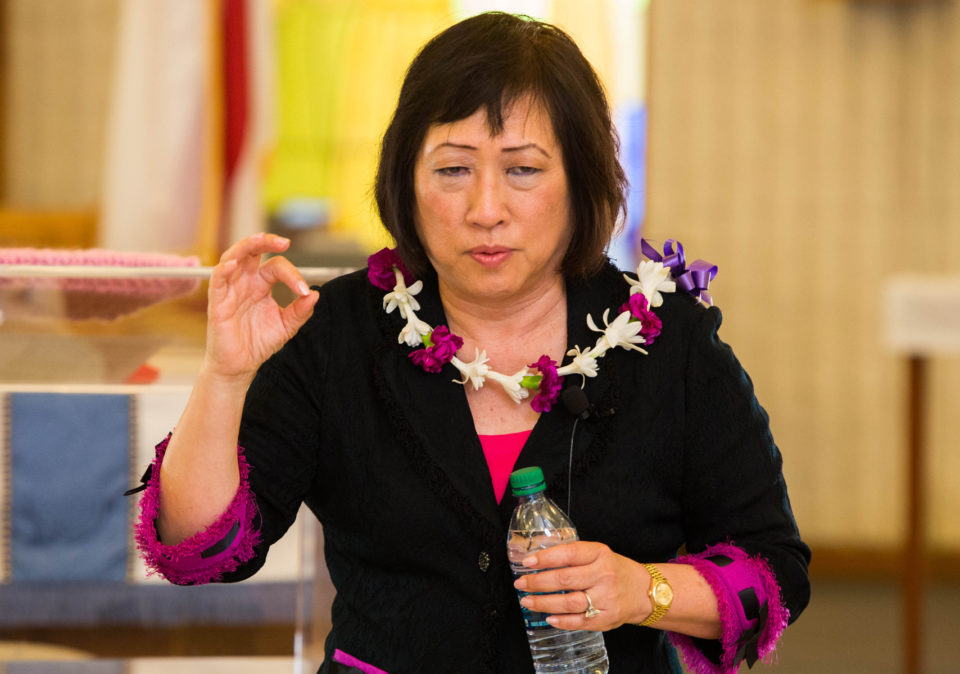 Attack By North Korea Unlikely, Hanabusa Tells Town Hall