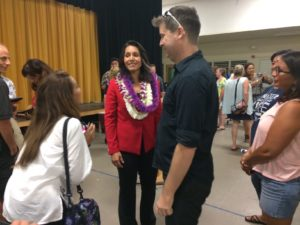 Under Fire In DC, Gabbard Is Still A Hit On The Big Island