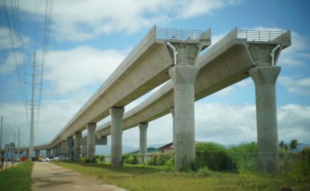 HART Rail guiderail Kapolei near Kualakai Parkway, Kapolei.. End or beginning HART. 24 may 2017