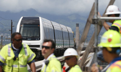HART Takes Its Train Out For A Test Drive Along The Rail Guideway