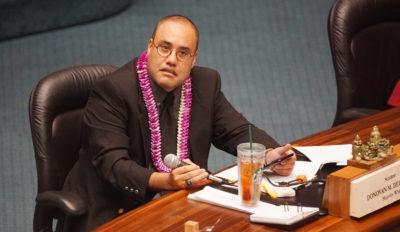 Sen Donovan Delacruz in session. 4 may 2017