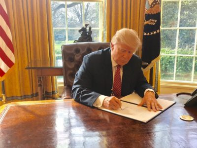 Donald Trump signs second travel ban
