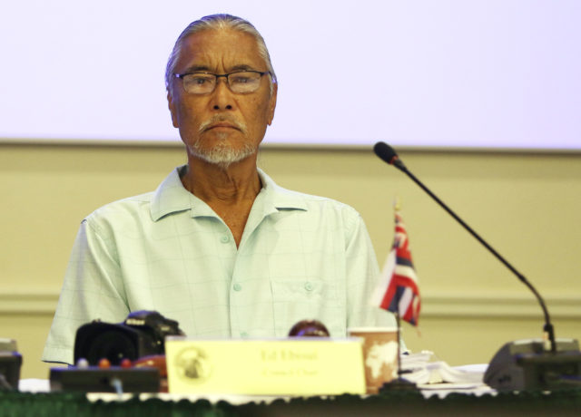 Ed Ebisui attends WESPAC meeting held at Laniakea Auditorium.