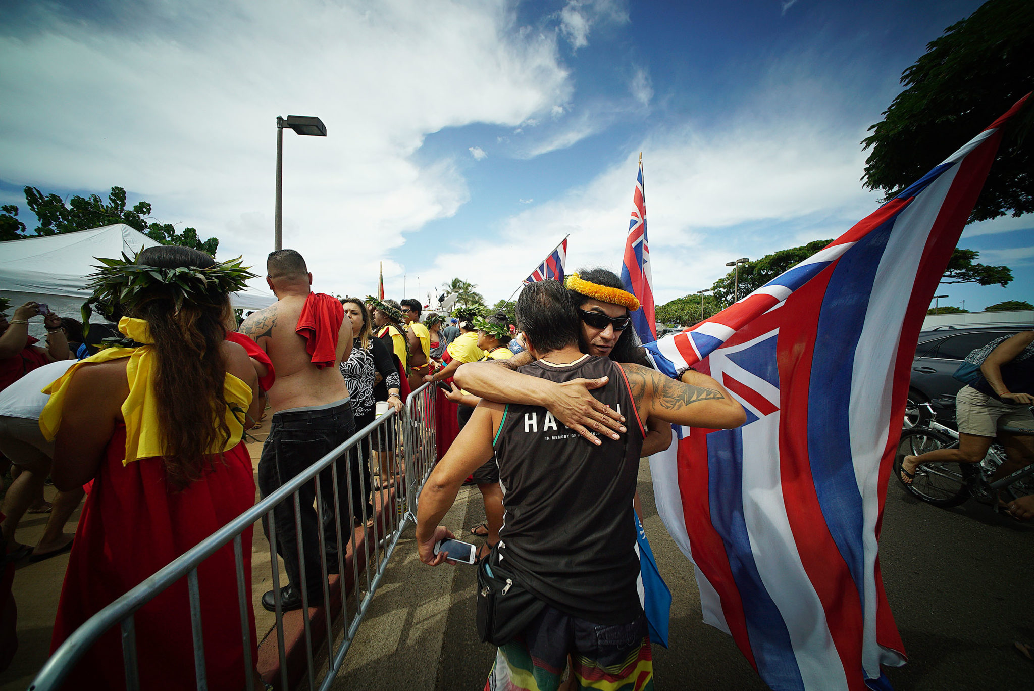 <p>Cultural pride is on display during the emotional homecoming. Organizers of the voyage hoped its success would inspire other indigenous people to rediscover and revive traditions./ Cory Lum</p>