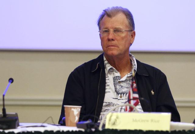 McGrew Rice attends WESPAC meeting held at Laniakea Auditorium.