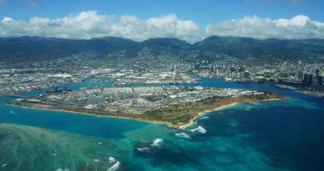 Sand Island Aerial photo.