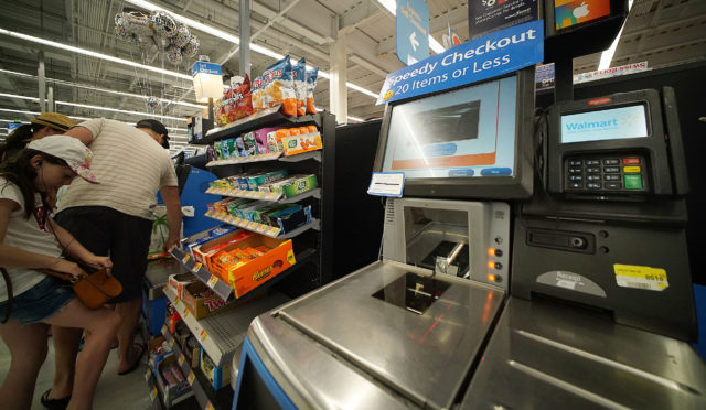 Self checkout at Keaaumoku street Walmart.