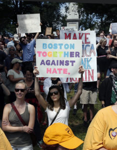Thousands Of Protesters Flood Boston To Repudiate White Supremacy
