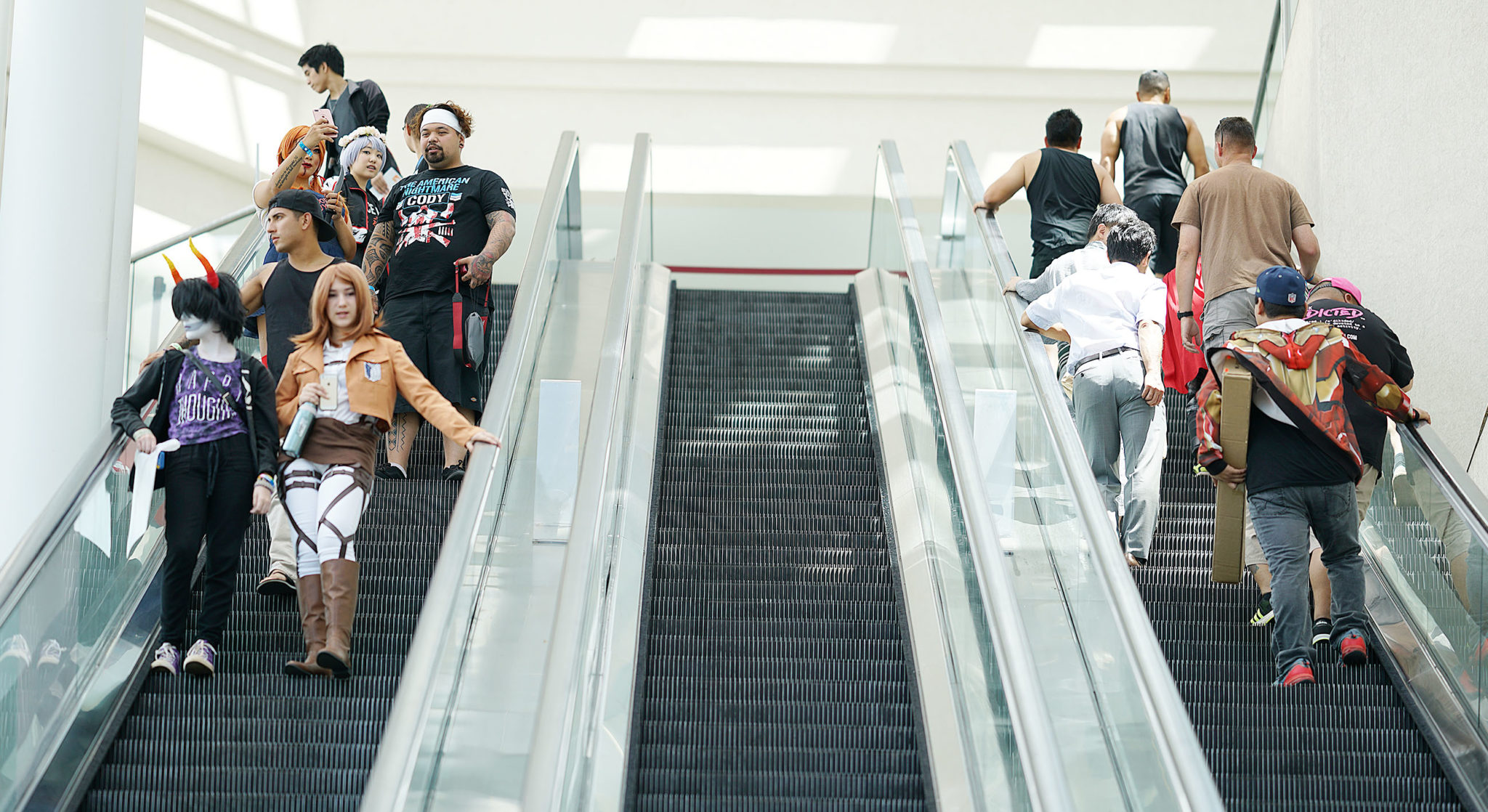 <p>Some convention attendees wore costumes themselves.</p>
