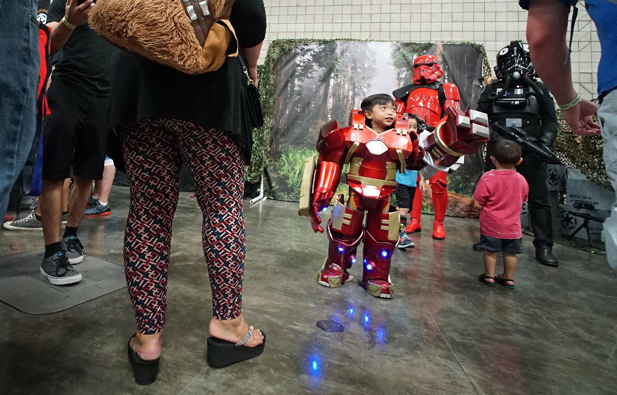 <p>Jonathan Quilantang, 4, of Wahiawa, sported a Hulkbuster version of the Iron Man costume.</p>