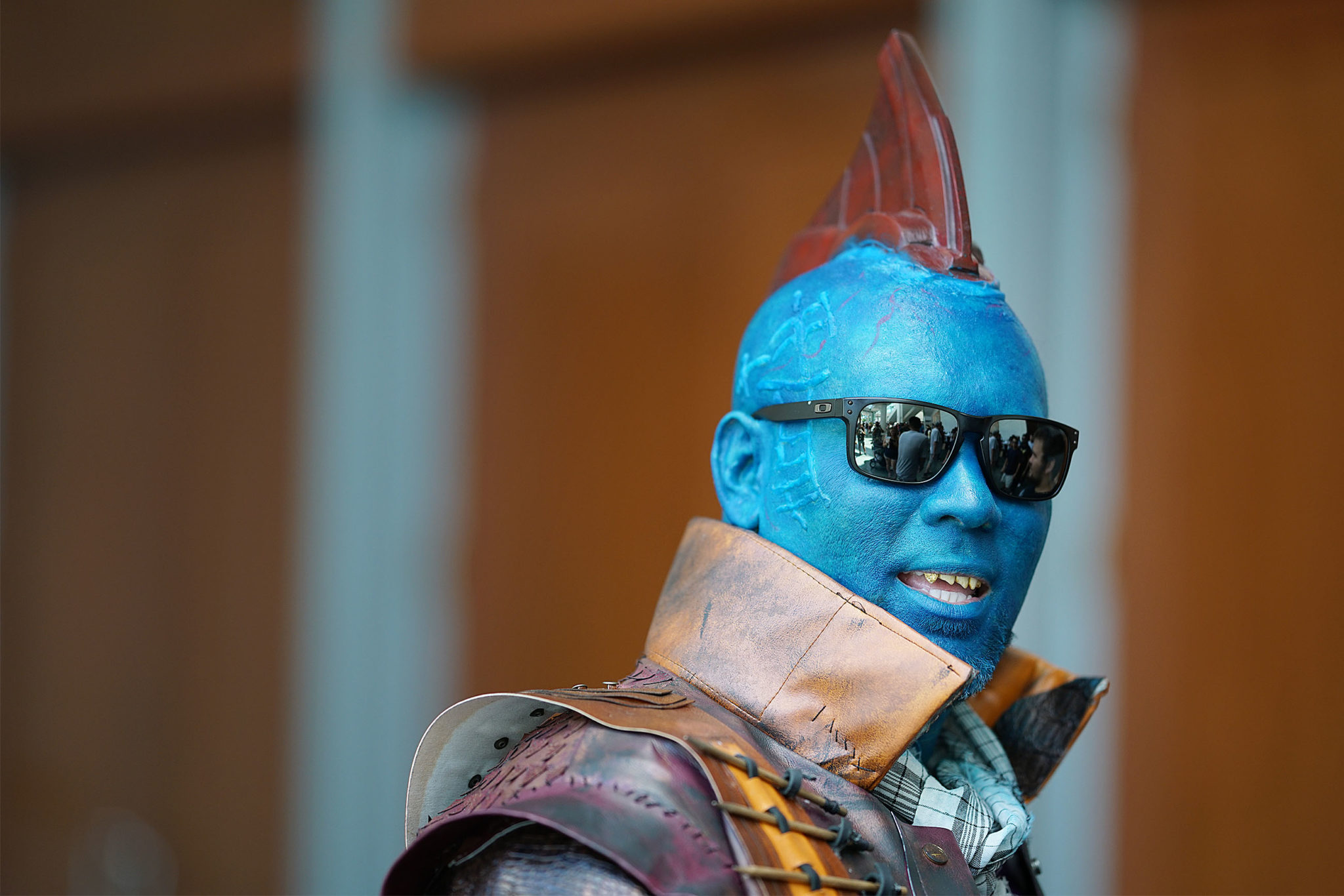 <p>Kamakani De Dely as the blue hero Yondu from the &#8220;Guardians of the Galaxy&#8221; movie series was a big hit at the convention.</p>