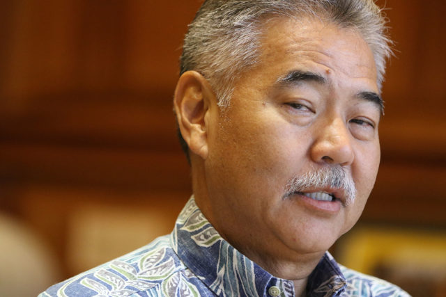 Governor David Ige education interview in his office, interviewed by Suevon and Chad.