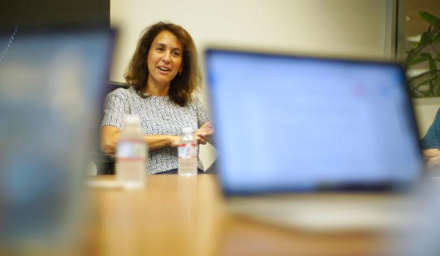 Hawaii Education Superintendent Christina Kishimoto, Editorial meeting at office.